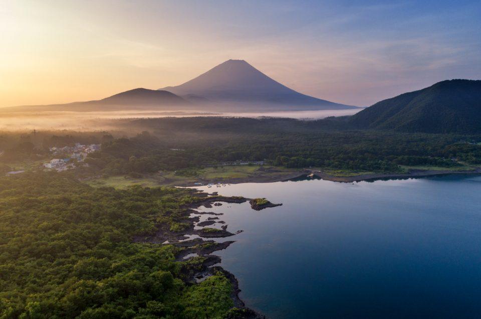 富士山を空撮